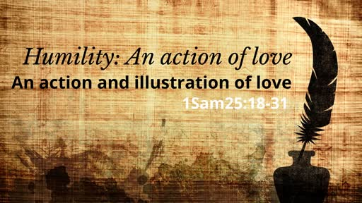 Humility: An action of love