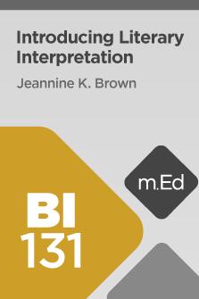 BI131: Introducing Literary Interpretation (Course Overview)
