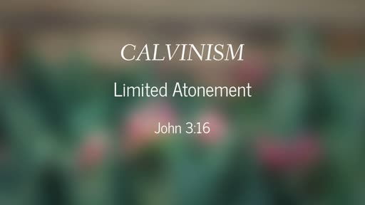 Calvinism-Limited Atonement