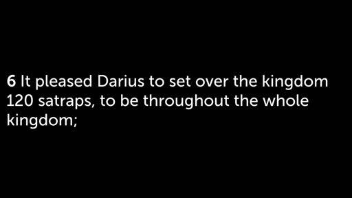 Daniel 6: The Lion's Den