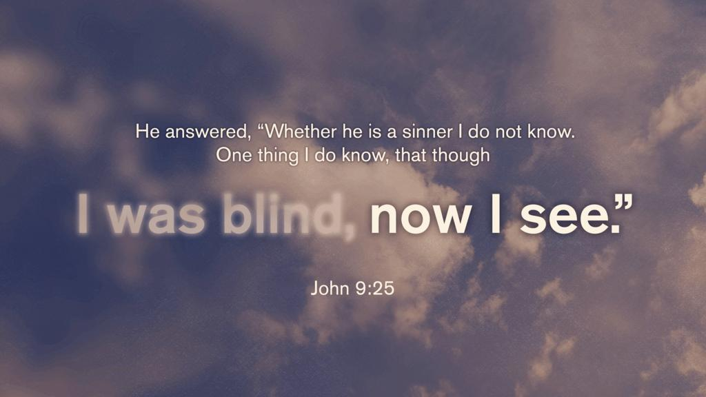 John 9:25 large preview