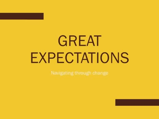 Great Expectations, Jeff's first service