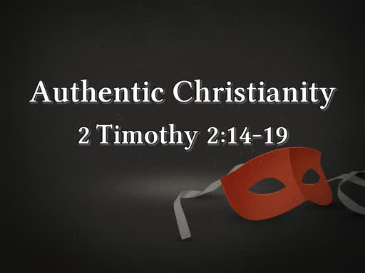 10/07/18 Authentic Christianity
