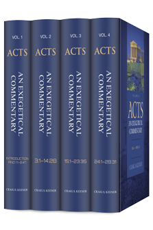 Acts: An Exegetical Commentary (4 vols.)