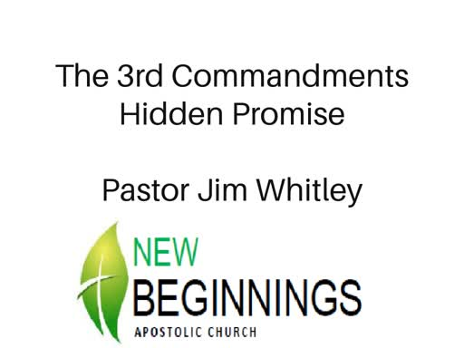 the 3rd Commandment Hidden Promise Wed 10/10