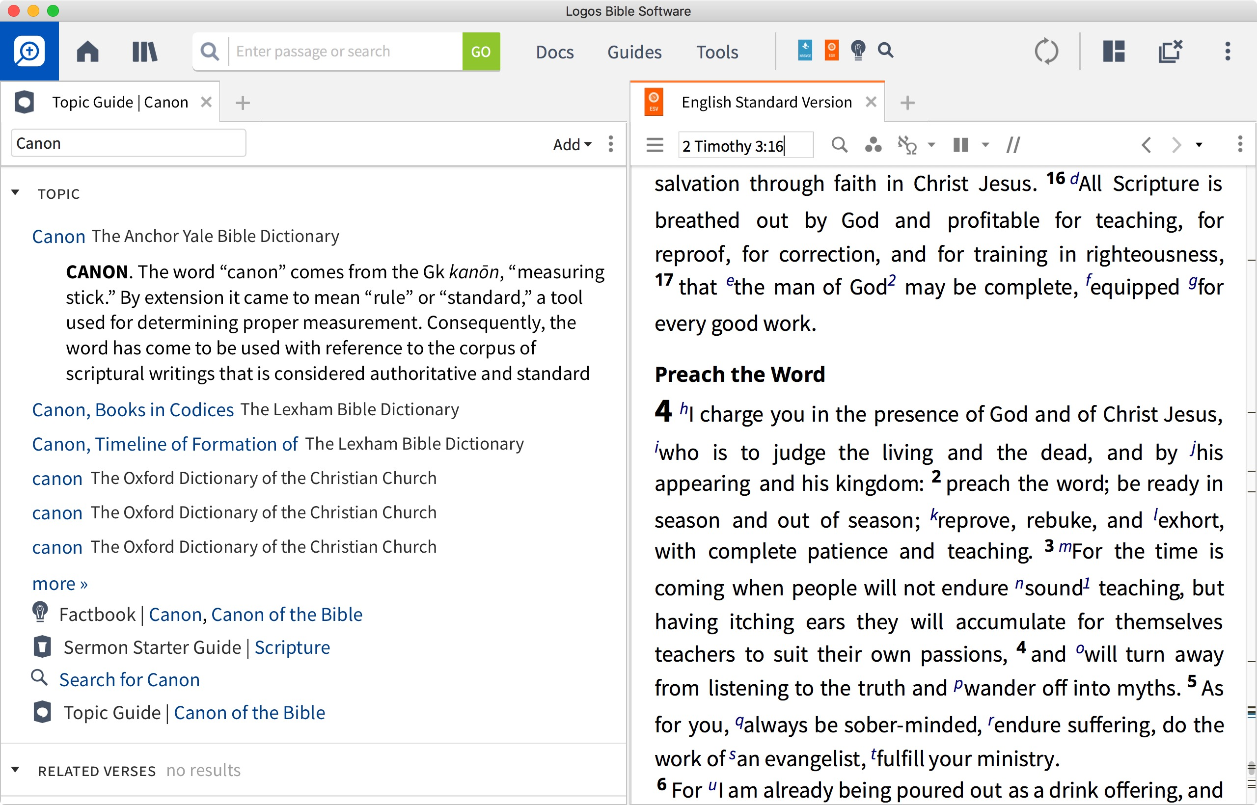 Features | Logos Bible Software