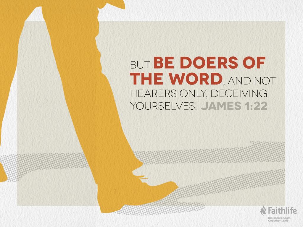 designed James 1:22 offering verse