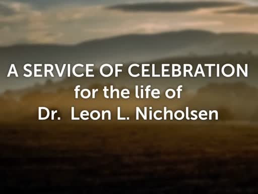 Leon Nicholsen  Funeral October 13 2018