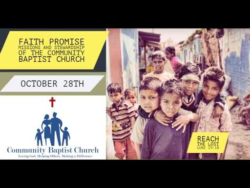 Oct 14, 2018 Sunday School - Stewarding Health
