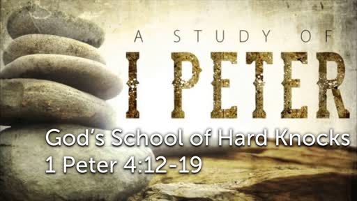 Sunday, October 14 - AM - God's School of Hard Knocks