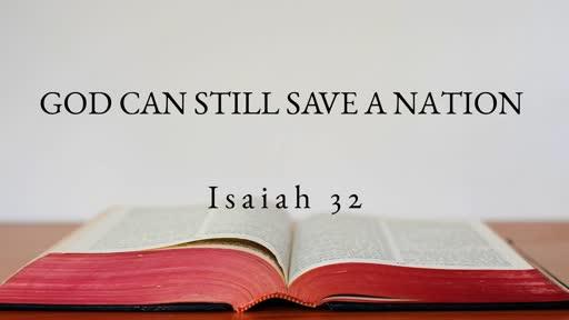 God Can Still Save A Nation