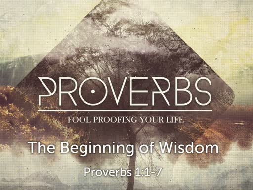 Proverbs-The Beginning of Wisdom