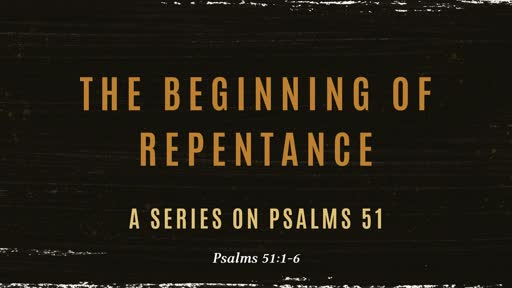 The begining of Repentance