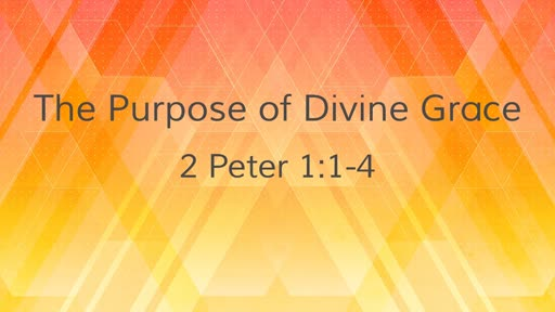 The Purpose of Divine Grace