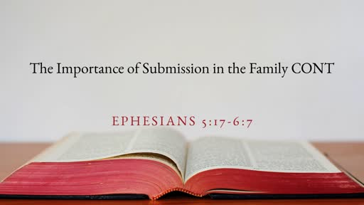 The Importance of Submission in the Family Cont.