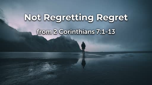 Not Regretting Regret