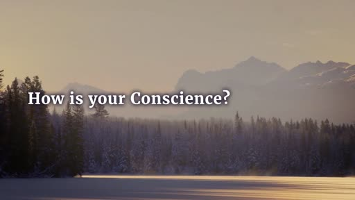 HOW IS YOUR CONSCIENCE?