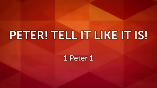 Peter! Tell it like it is!