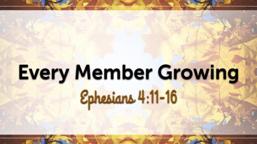 Every Member Growing