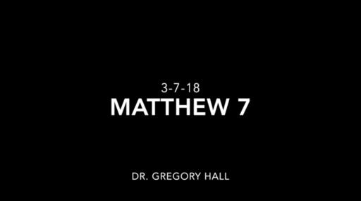 Matthew Chapter 7