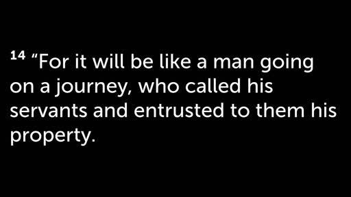 Matthew 25:14-30: Living Generously