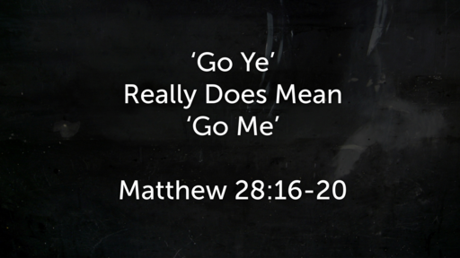 November 4 - 'Go Ye' Really Does Mean 'Go Me'