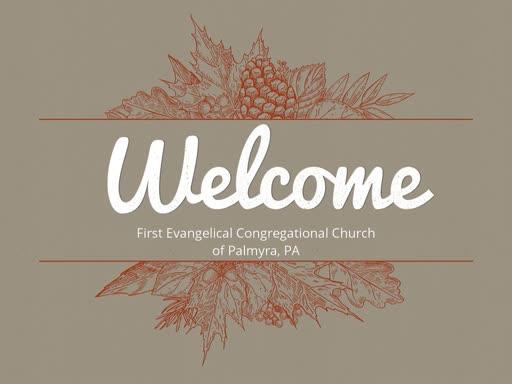 Sunday Worship November 4, 2018