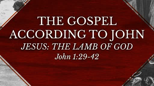 John 1:29-42 | Jesus, The Lamb of God