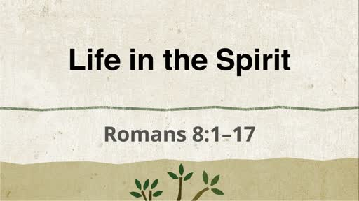 Life in the Spirit -- Rm 8:1-17
