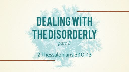 Dealing With The Disorderly - 11.04.18 PM