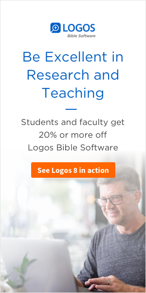 Students and faculty get 20% or more off Logos Bible Software.