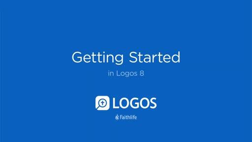 Getting Started In Logos 8