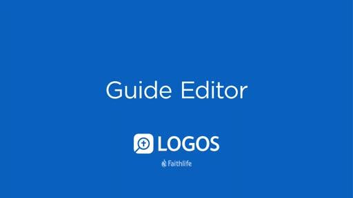 Guide Editor
