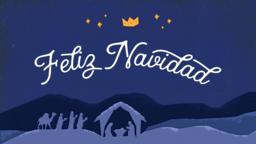 Glory to the Newborn King feliz navidad 16x9 PowerPoint Photoshop image