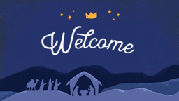 Glory to the Newborn King welcome 16x9 PowerPoint Photoshop image