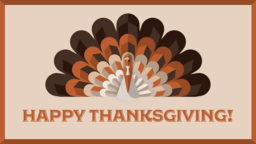 Thanksgiving Turkey happy 16x9 PowerPoint image