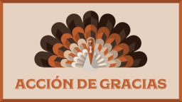 Thanksgiving Turkey acción de gracias 16x9 PowerPoint image