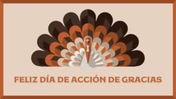Thanksgiving Turkey feliz día de acción gracias 16x9 PowerPoint image
