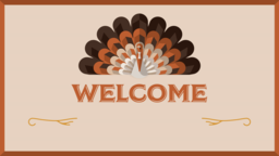Thanksgiving Turkey welcome 16x9 PowerPoint image