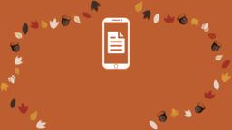 Thanksgiving Turkey bulletin 16x9 PowerPoint image