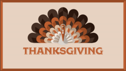 Thanksgiving Turkey subheader 16x9 PowerPoint image