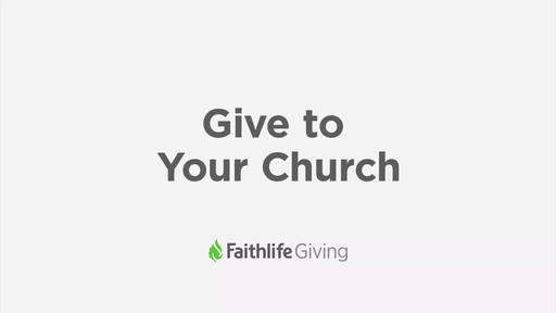 Give To Your Church