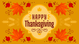 Thanksgiving Foliage happy 16x9 PowerPoint image