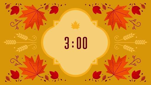 Thanksgiving Foliage - Countdown 3 min
