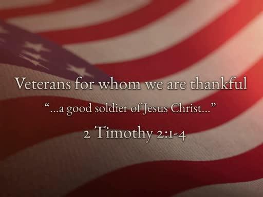 November 11, 2018 AM - Sunday Morning Veterans Service