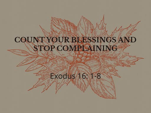Count your Blessing and Stop Complaining