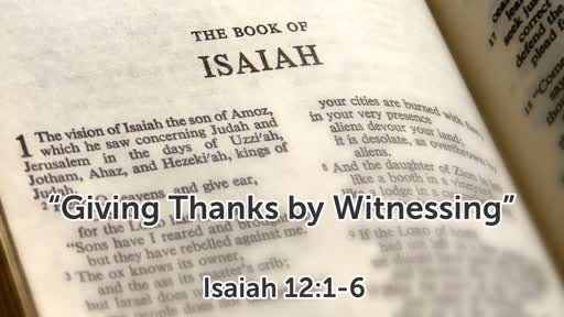 """""""Giving Thanks by Witnessing"""""""