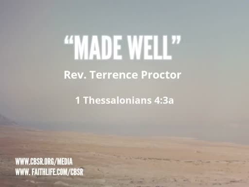 "11-11-18 ""Made Well"" 2nd service"