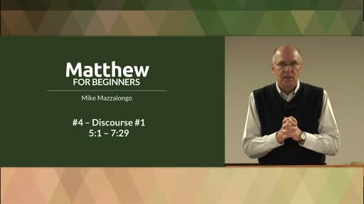 Sermon on the Mount - Discourse #1