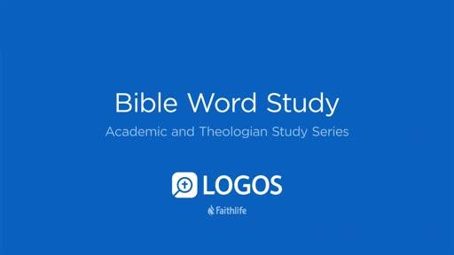 6. Bible Word Study
